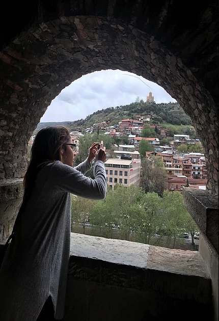 An overlook in Tbilisi