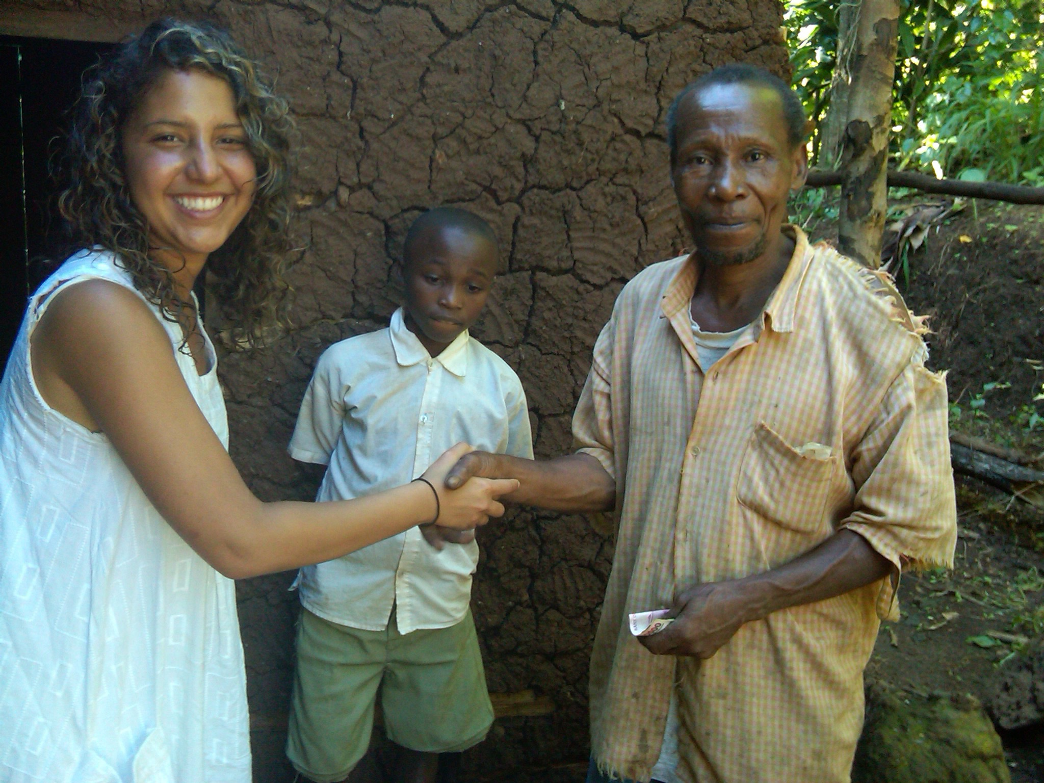 Meeting the father of a student at his home