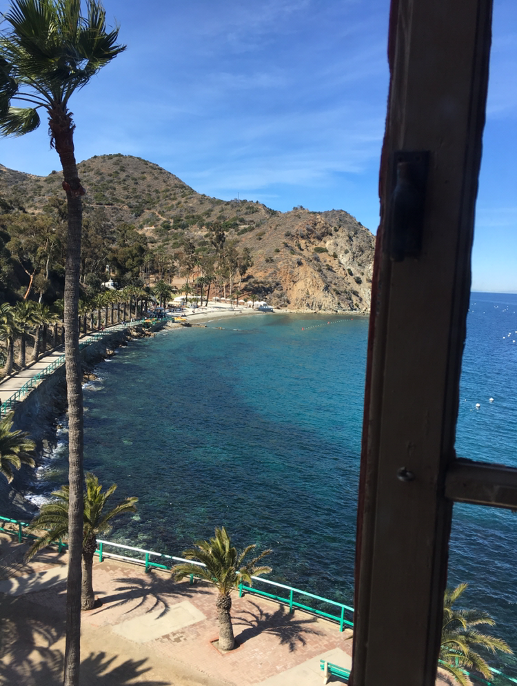 View from a window in the Catalina Casino