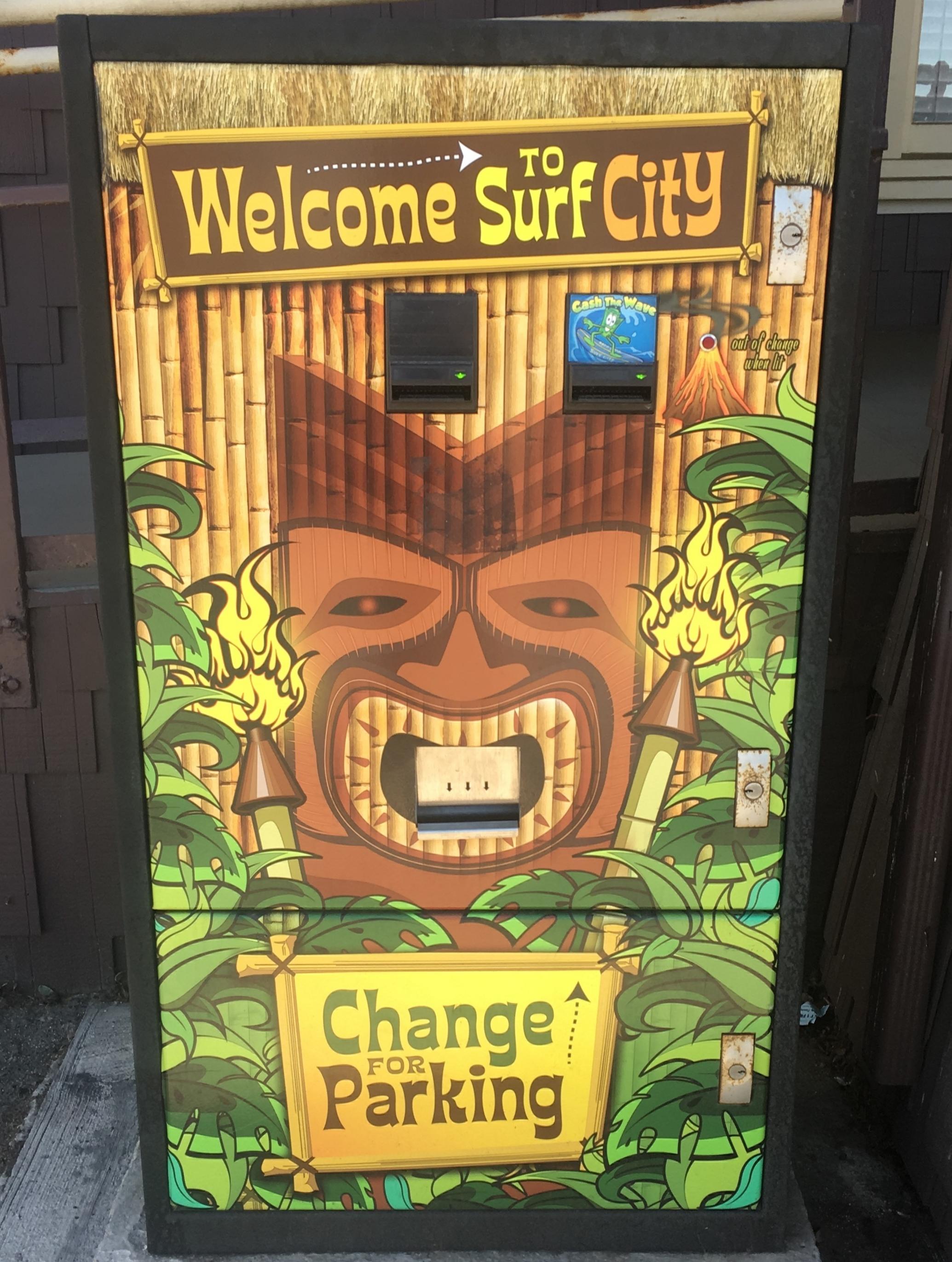 Huntington Beach change machine