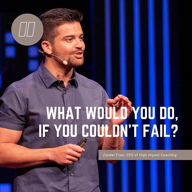 "Zander Fryer, CEO of High Impact Coaching was one of our amazing speakers in 2019. Throughout his speech he asked the question ""What would you do, if you couldn't fail?"" A fairly simple question, however one that produced many not so simple thoughts. How would you answer his question?  #tedxgrandcanyonuniversity #tedx #tedtalks #inspiration #foodforthought"