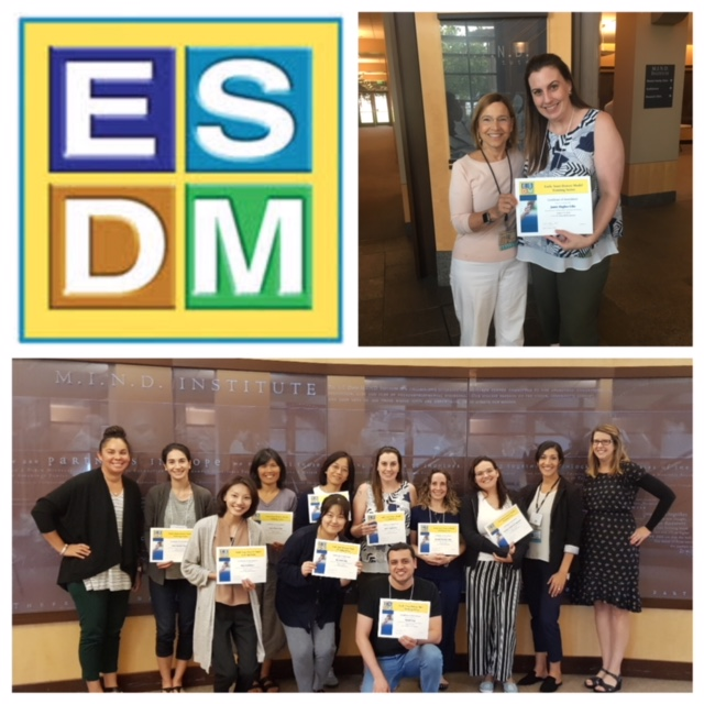 Dr. Hughes-Lika completed an intensive 3-day Parent Early Start Denver Model (P-ESDM) Workshop at the MIND Institute. We look forward to integrating the information learned into our parent coaching services!
