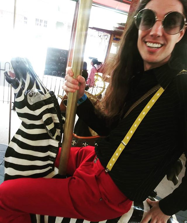 We like zebras, don't you? #soldonlyascurio #detroitmusic #detroitbands #zebra #carousel