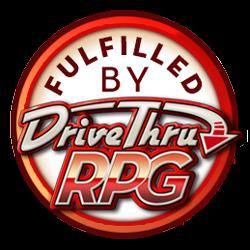 PDF fulfillment through our partnership with DriveThruRPG!