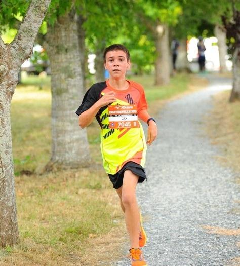Jaxon Running at Park Run