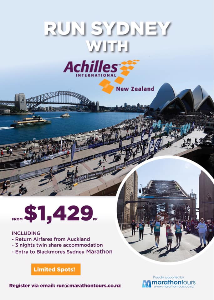 Sydney Marathon Flyer - Contents written below