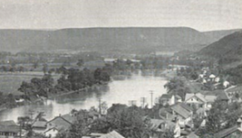 Juniata River and Bell's Island, Mifflintown, PA c. 1960. Courtesy of  www.empirekosher.com