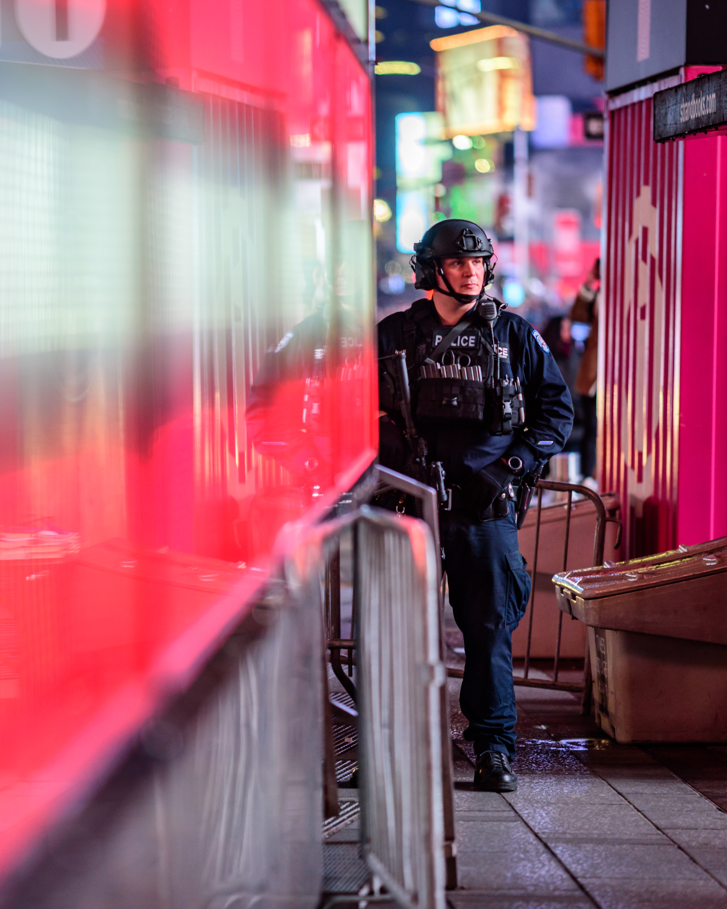 Standing guard in Times Square [March 25]