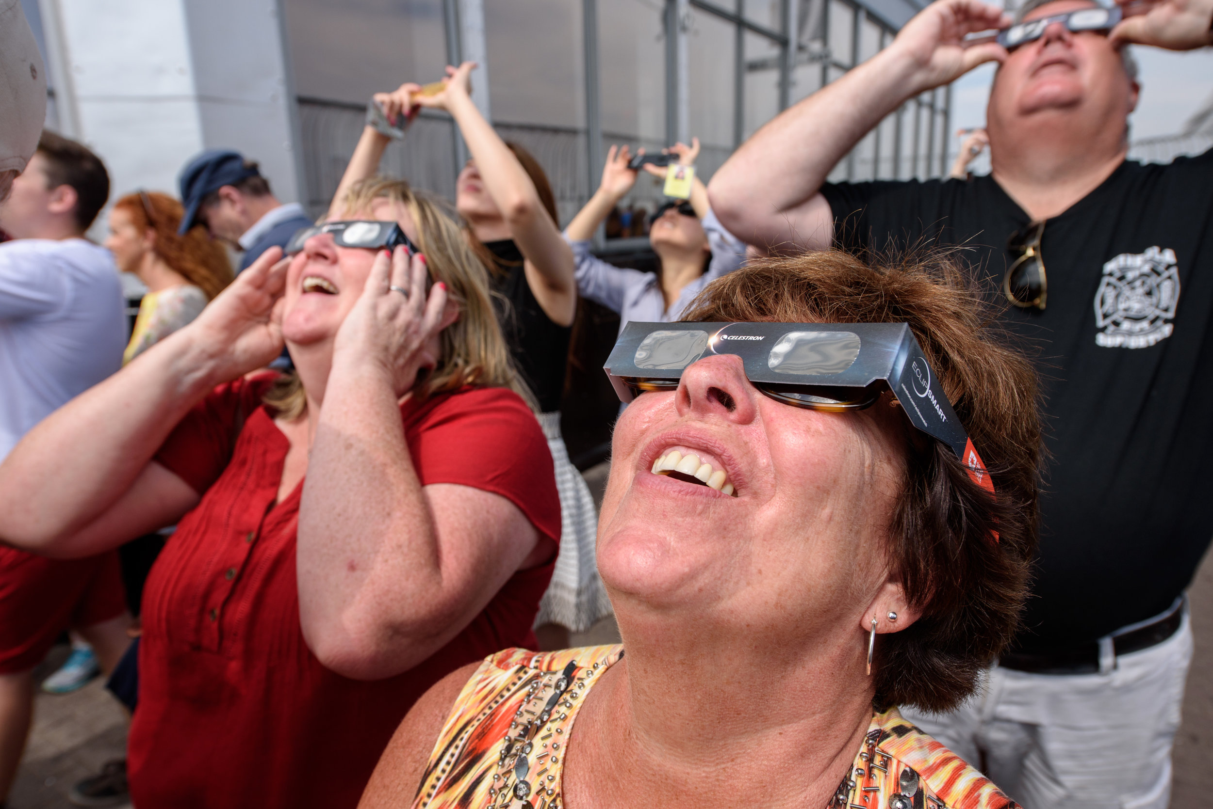 Solar eclipse from the Empire State Building [August 21]