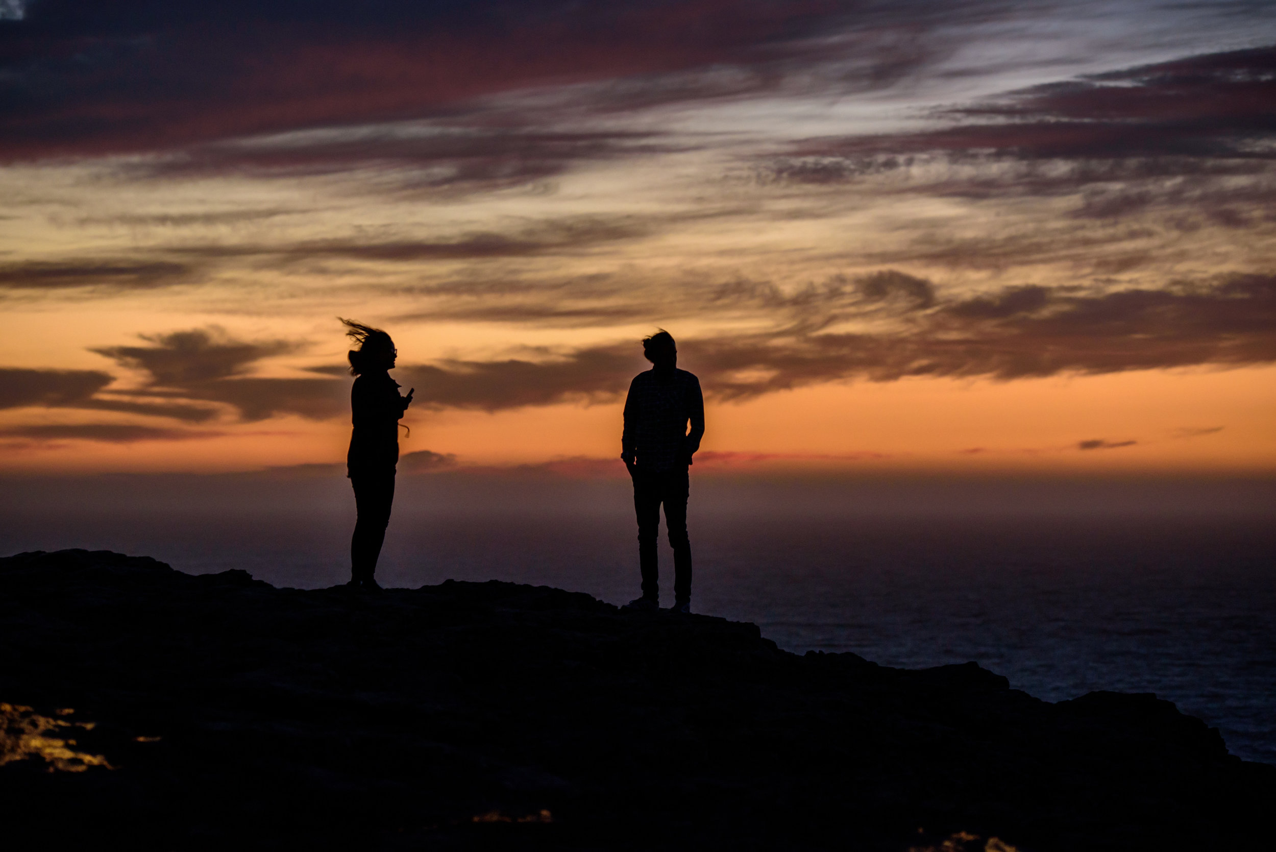 A very windy sunset [September 14]