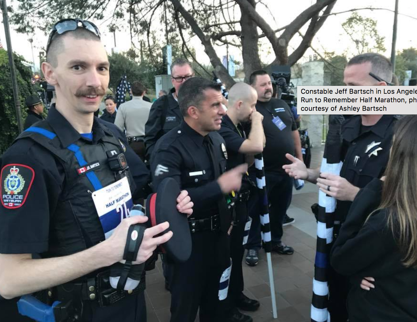 Weyburn Police Officer Runs To Remember in Los Angeles