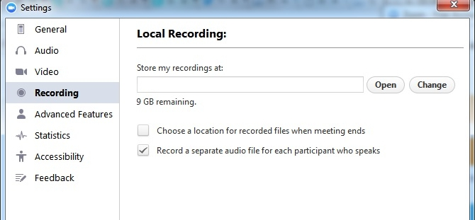 There is an option in Zoom to record separate tracks, even on the free plan.