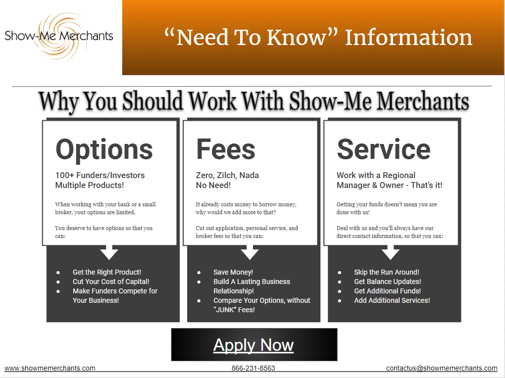Why you should work with Show-Me Merchants