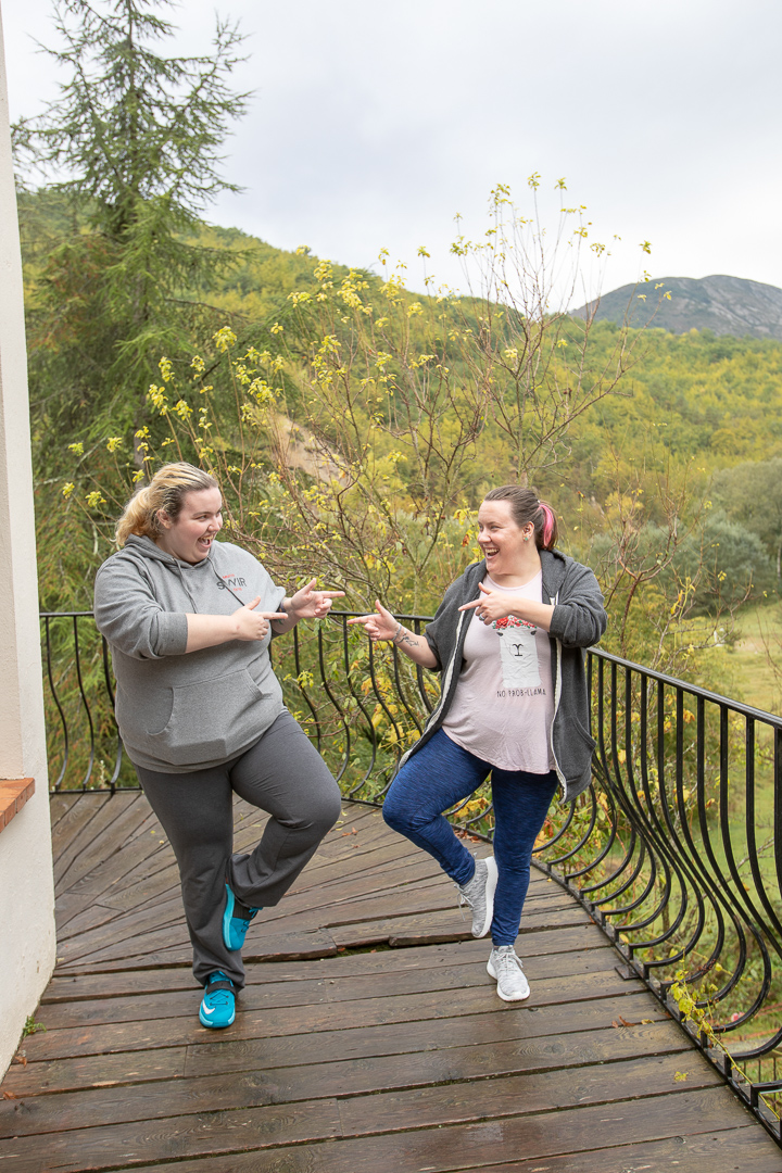 Jess and her wife Kristi while on yoga retreat in France, October 2018.