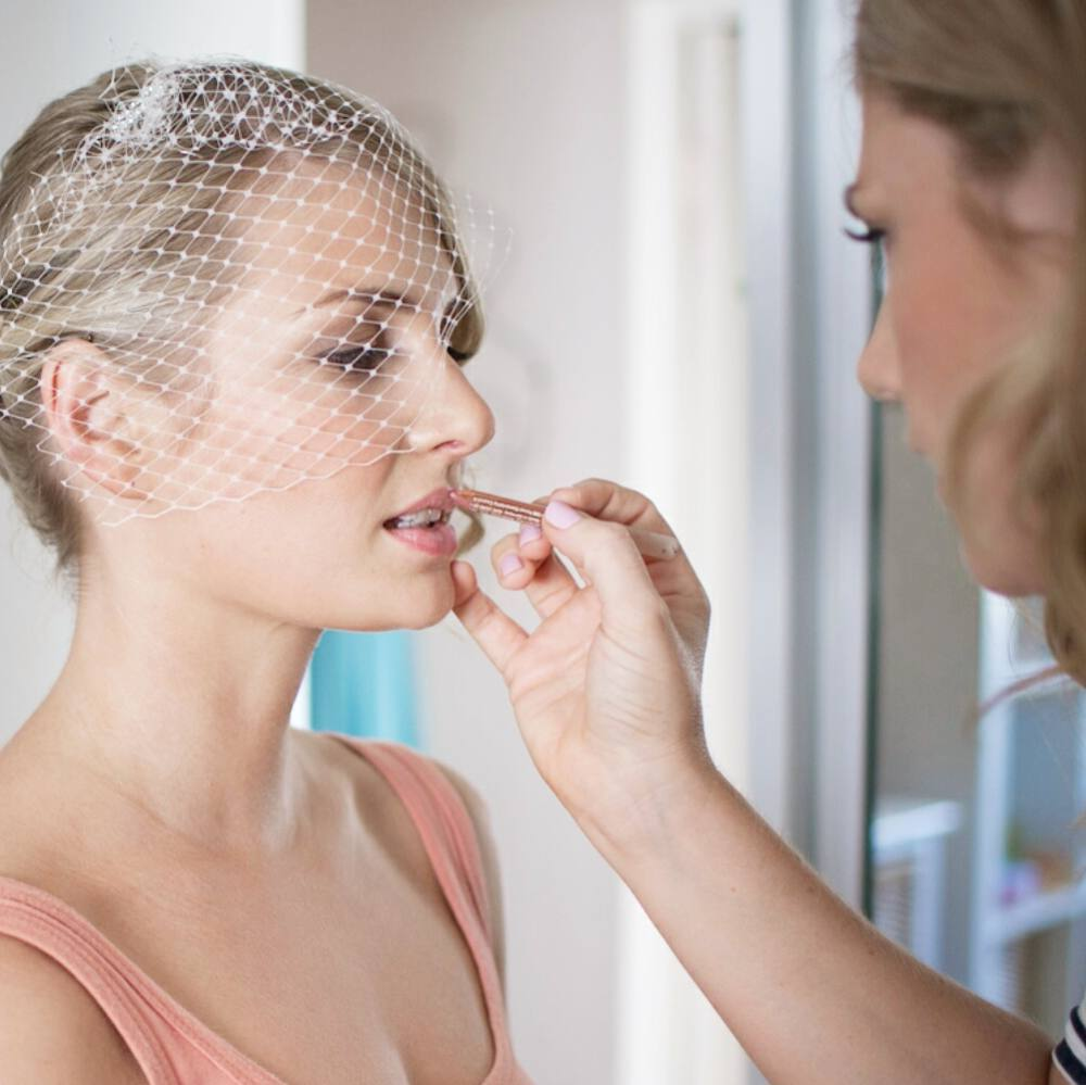 Working with gorgeous Raphaela on the morning of her special day.