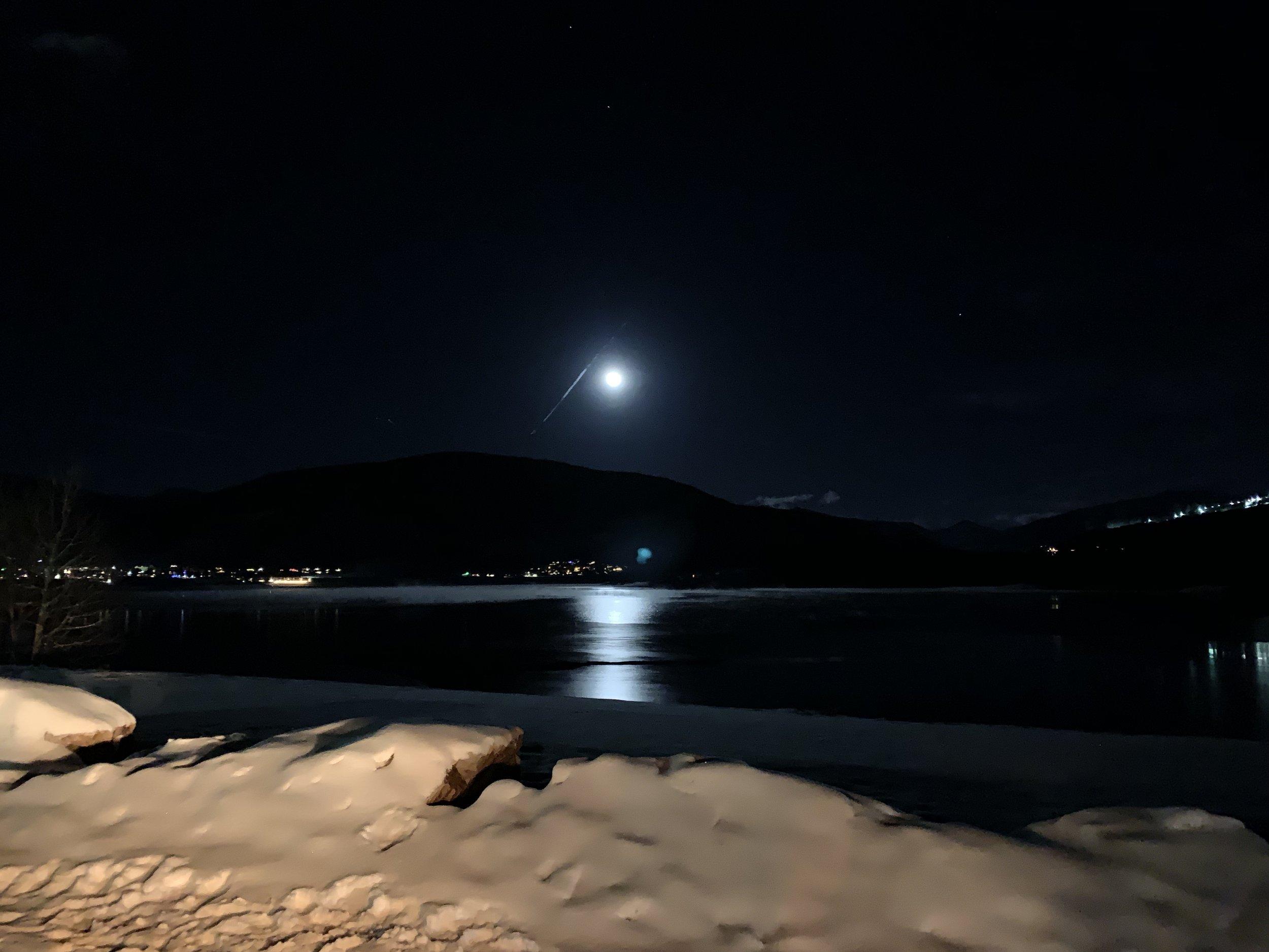 The Christmas Eve moon was amazing!
