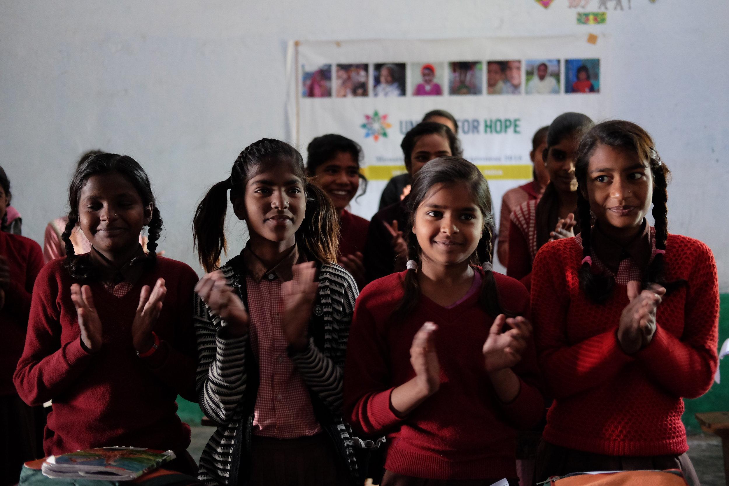 Girls during a Menstrual Hygiene workshop.JPG