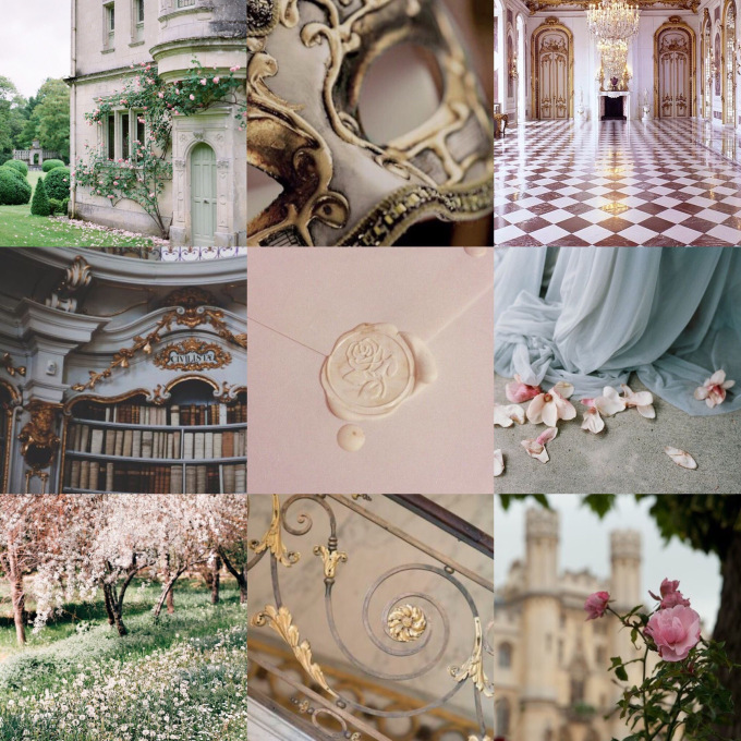 The Spring Court. - With all the descriptions of the Spring Court, it was only to easy to see how it was inspired by Beauty and The Beast!