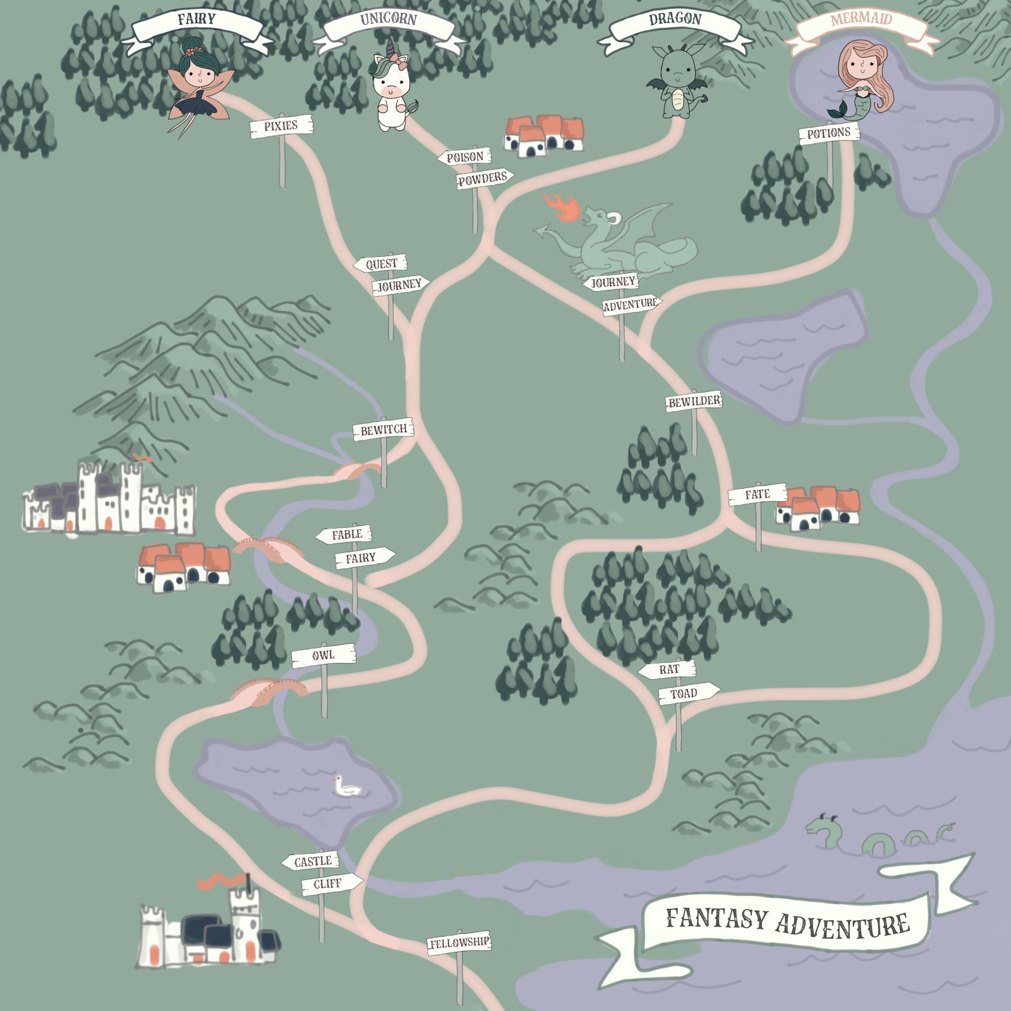 Fantasy Adventureathon Map
