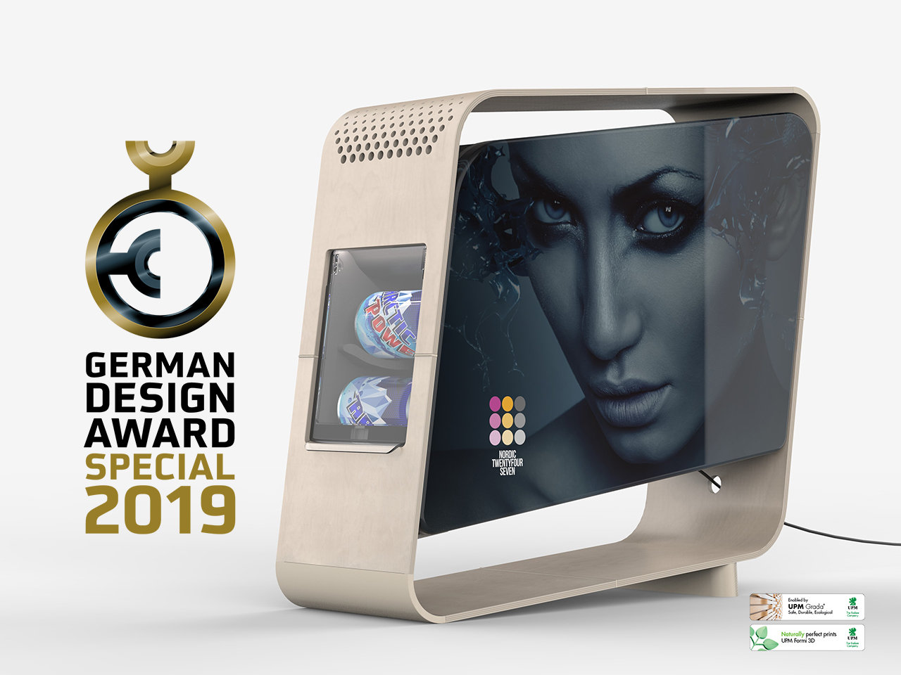 GERMAN DESIGN AWARD 2019   We won the Special Mention award (category: Retail) in the German Design Award 2019.