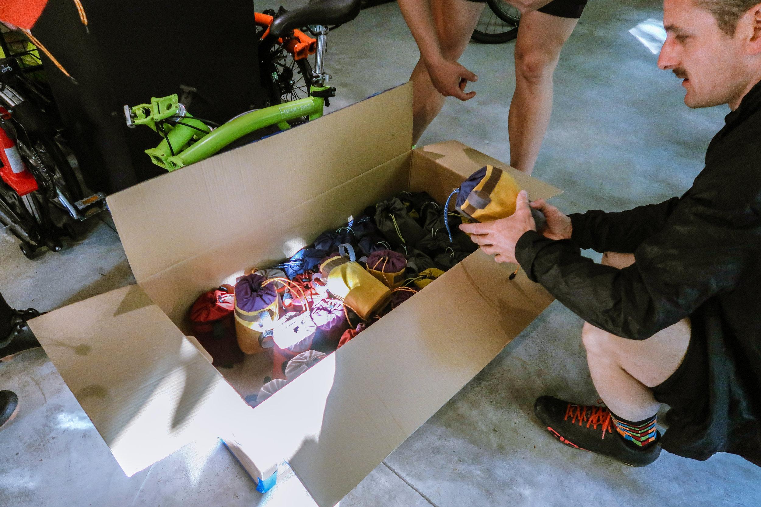 Each participant received a snack/handlebar bag, made especially for the event!