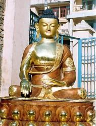 Shakyamuni Buddha. The statue is approximately five feet high