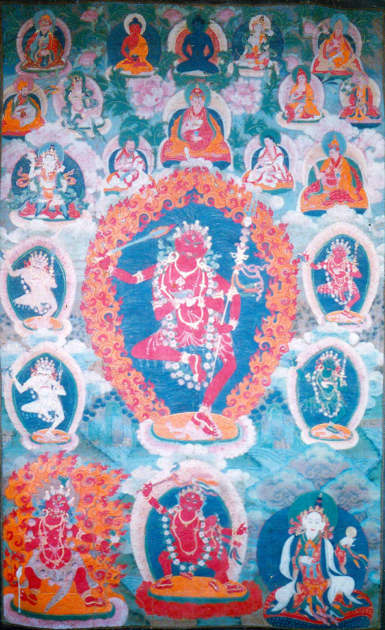 Khandro Sangwa Yeshe is the main cycle of teachings from the Lelung lineage. Concealed by Guru Padmasambhava, these teachings were later rediscovered by the Fifth Lelung Rinpoche who taught them widely