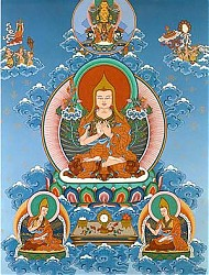 The great 14th century master Je Tsongkhapa founded the Gelung school of Tibetan Buddhism