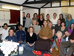 Group members with Lelung Rinpoche