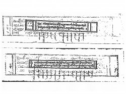Photocopy of a printed manuscript of the teaching of the Fifth Lelung Rinpoche. These wide, horizontal style texts are called pecha in Tibetan. This manuscript has been translated into Mongolian which is in vertical rows along the bottom of the page