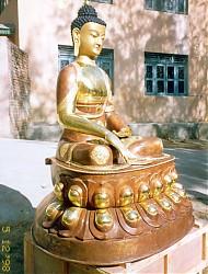 Shakyamuni Buddha. This statue is approximately five feet high
