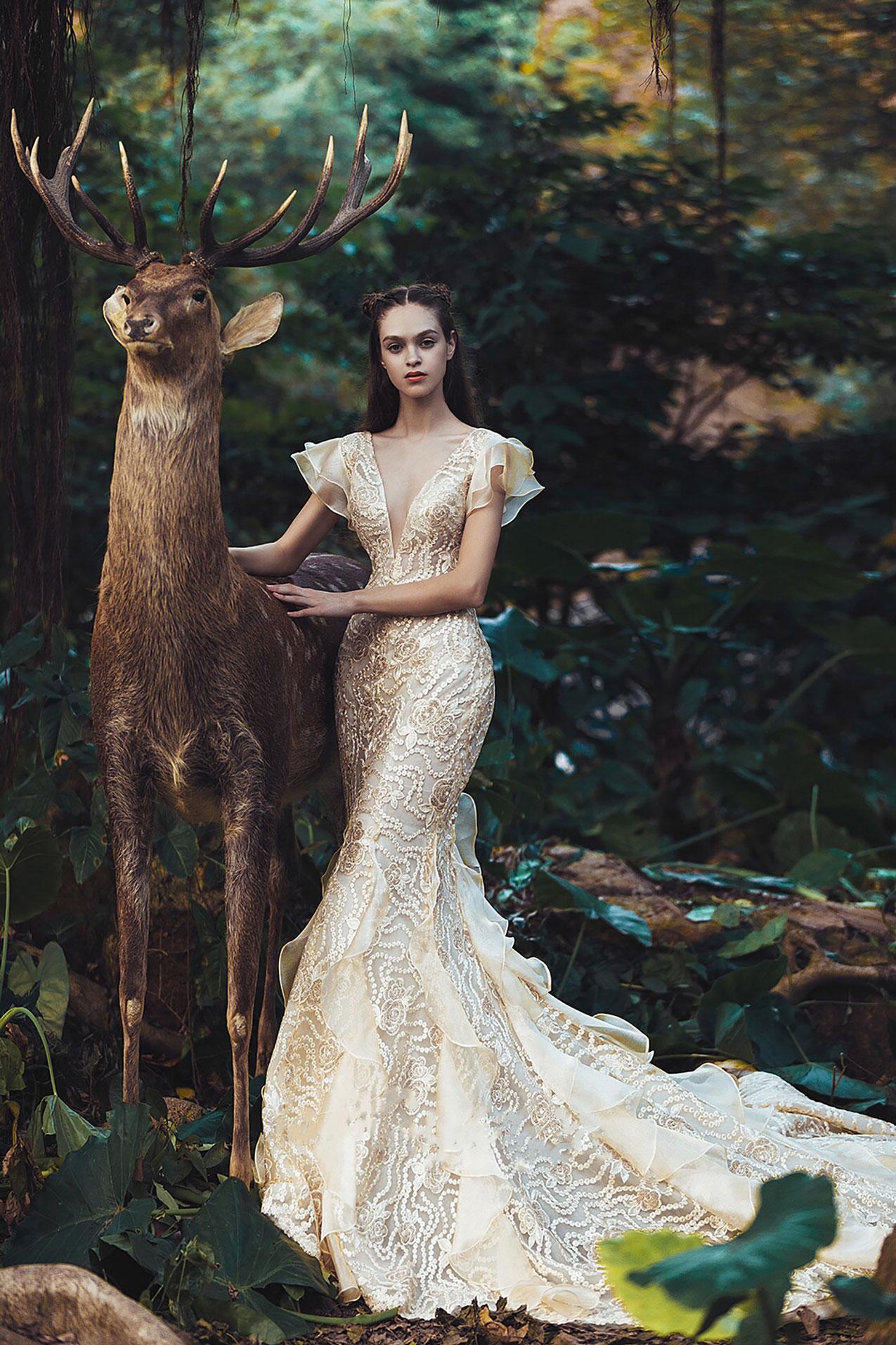 champagne-ruffled-sleeves-mermaid-wedding-dress.jpg