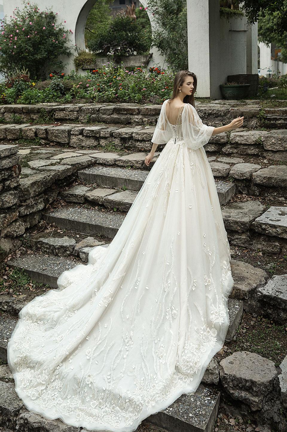 puff-sleeves-low-back-wedding-dress-train.jpg