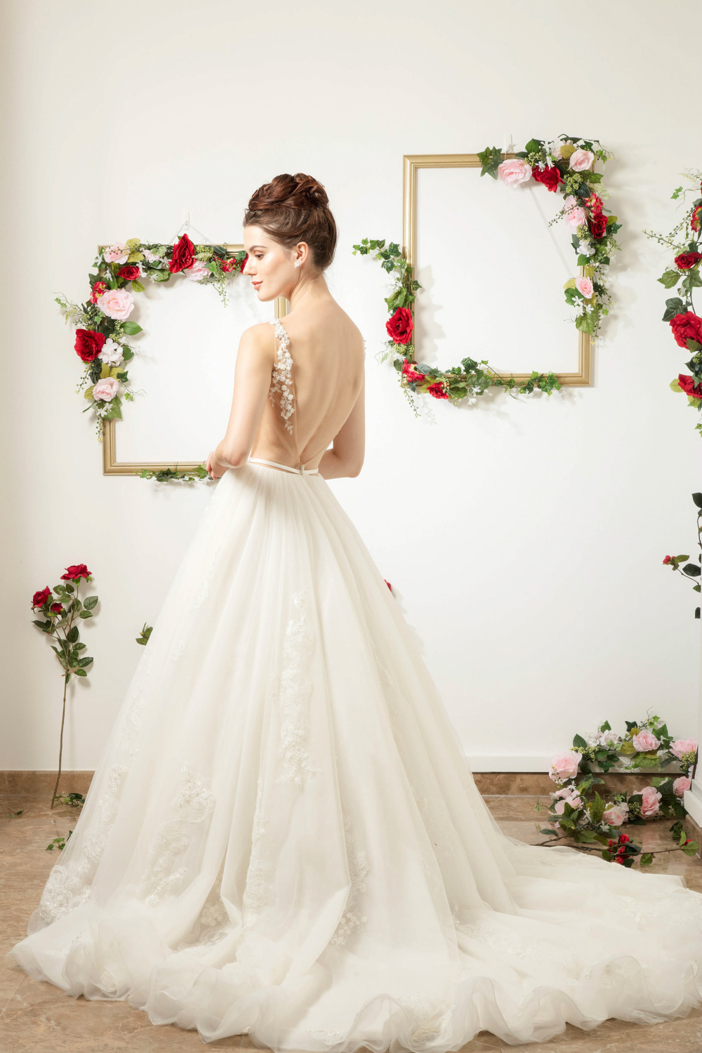 Low back wedding dress by CCM Wedding