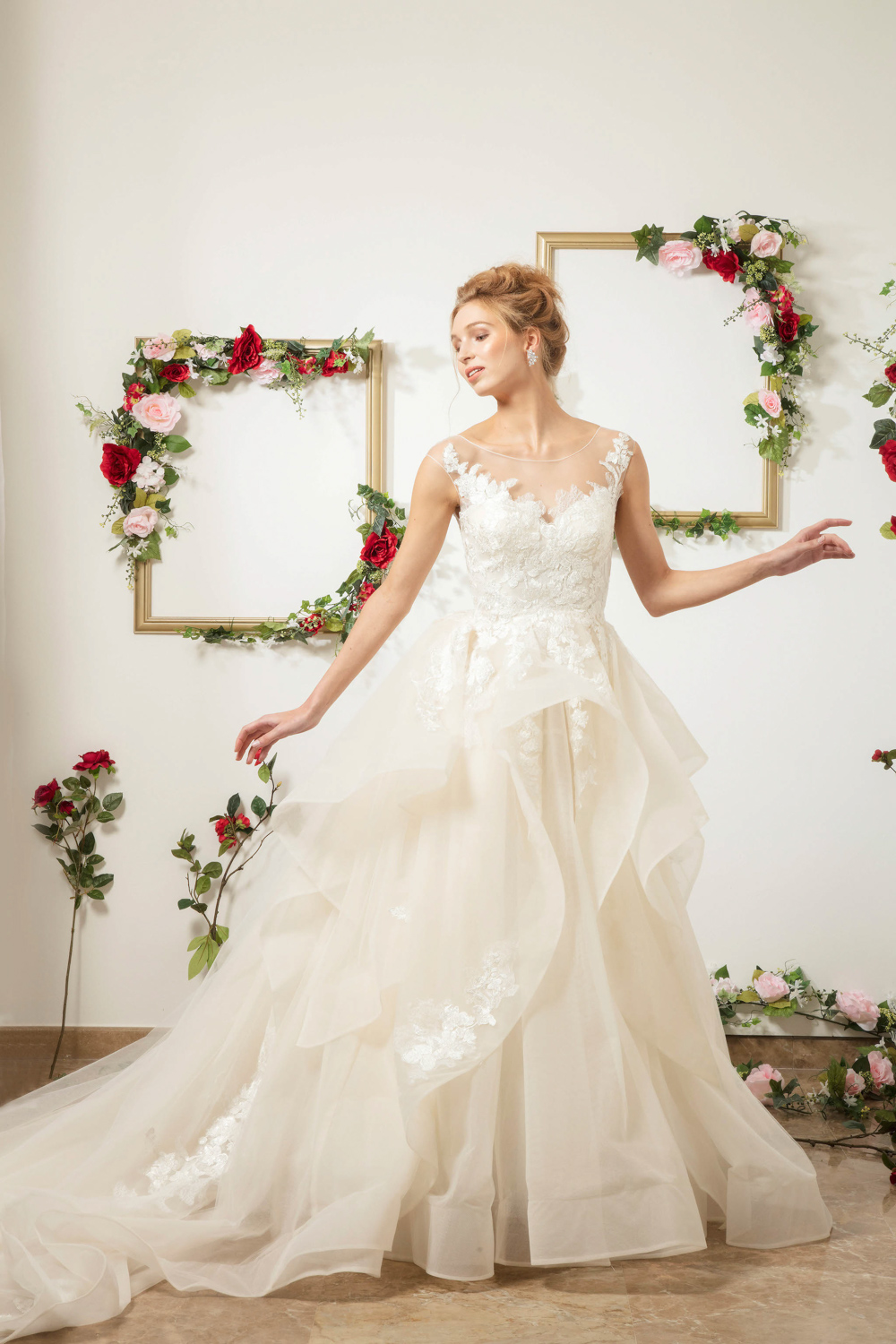 Ballgown with sweetheart neckline by CCM Wedding