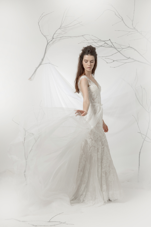 A line wedding dress by CCM Wedding