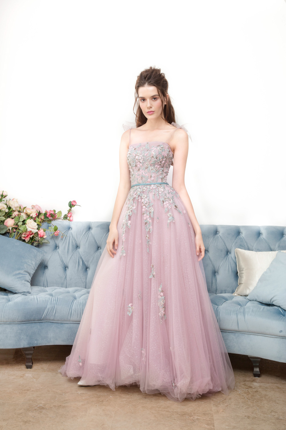 Pink evening gown by CCM Wedding