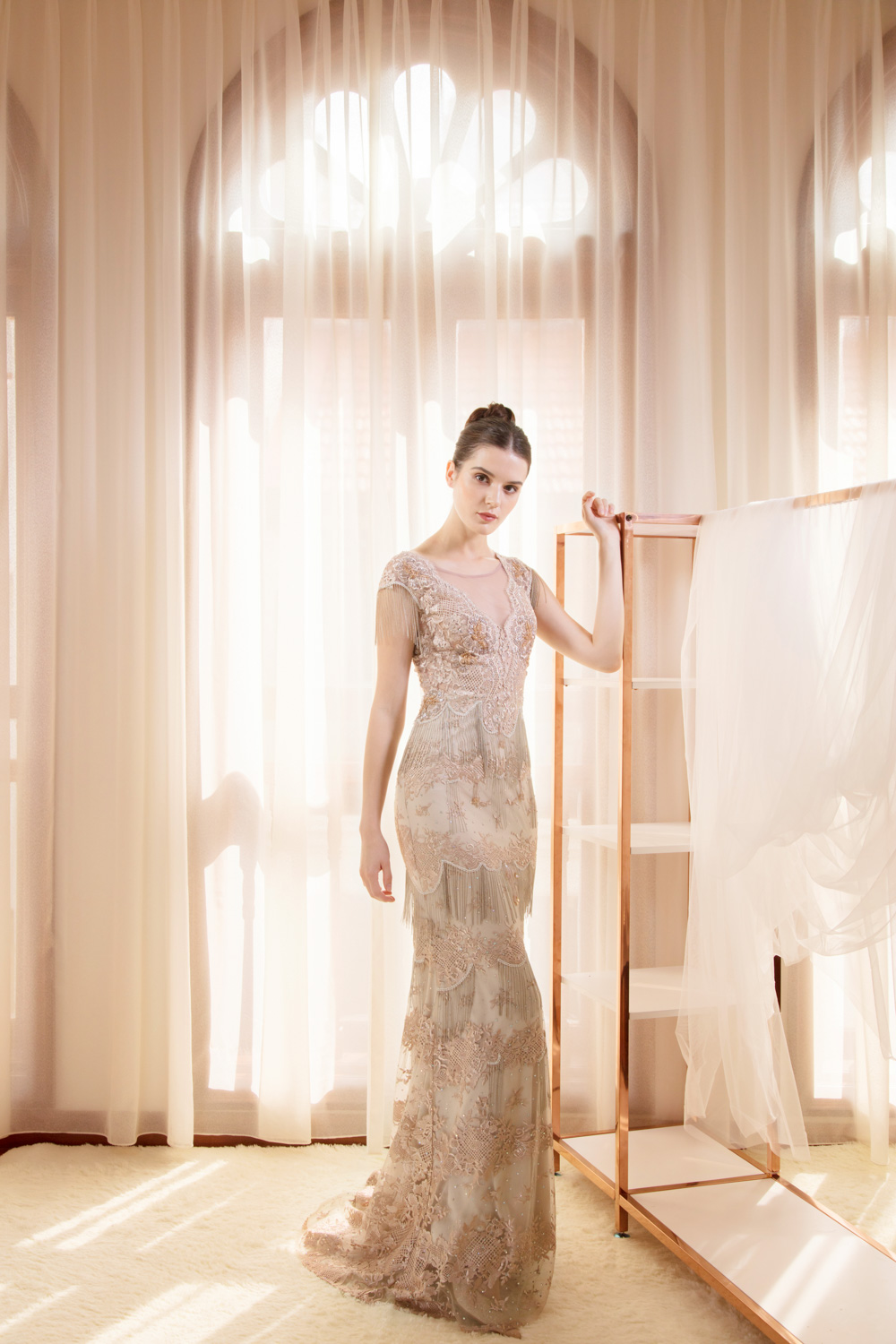 Evening gown with tassels by CCM Wedding
