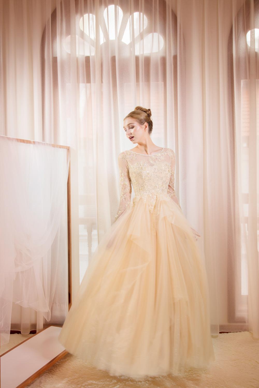 Yellow ballgown by CCM Wedding
