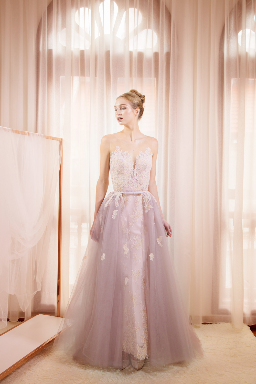 Lilac evening gown by CCM Wedding
