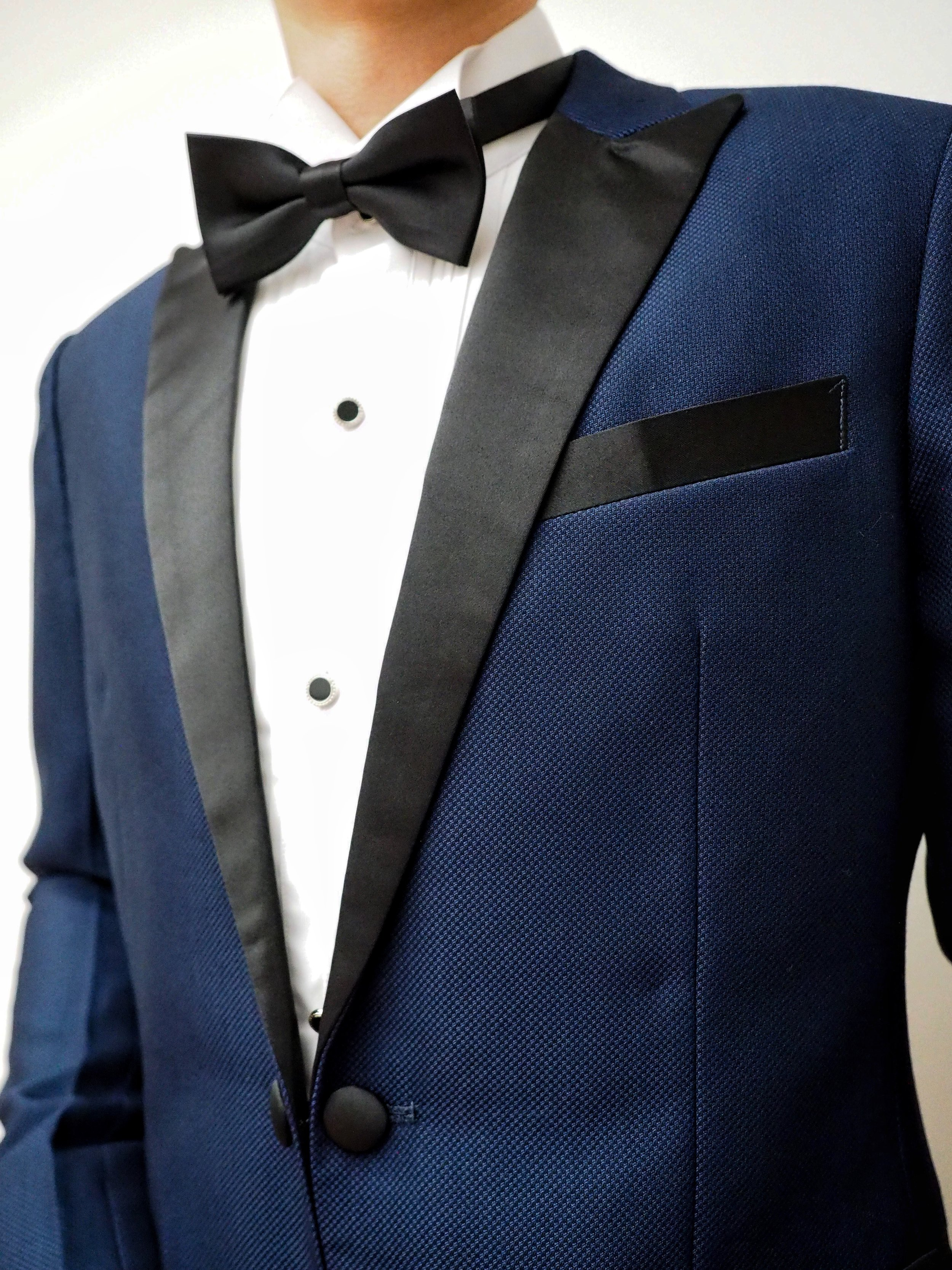 Woven blue suit by CCM Wedding