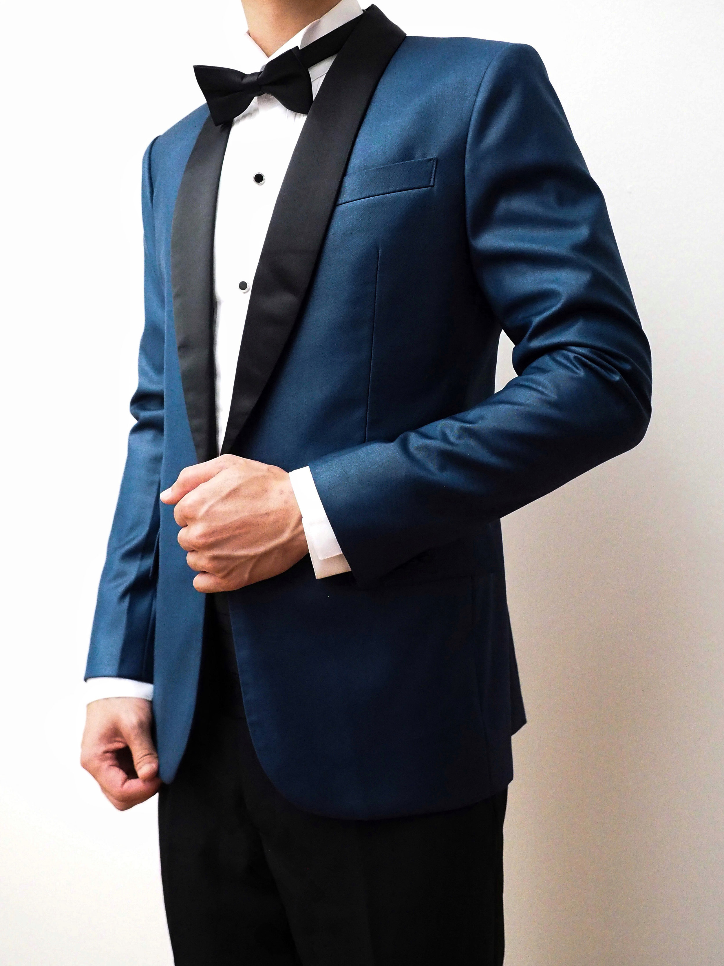 Steel blue suit by CCM Wedding