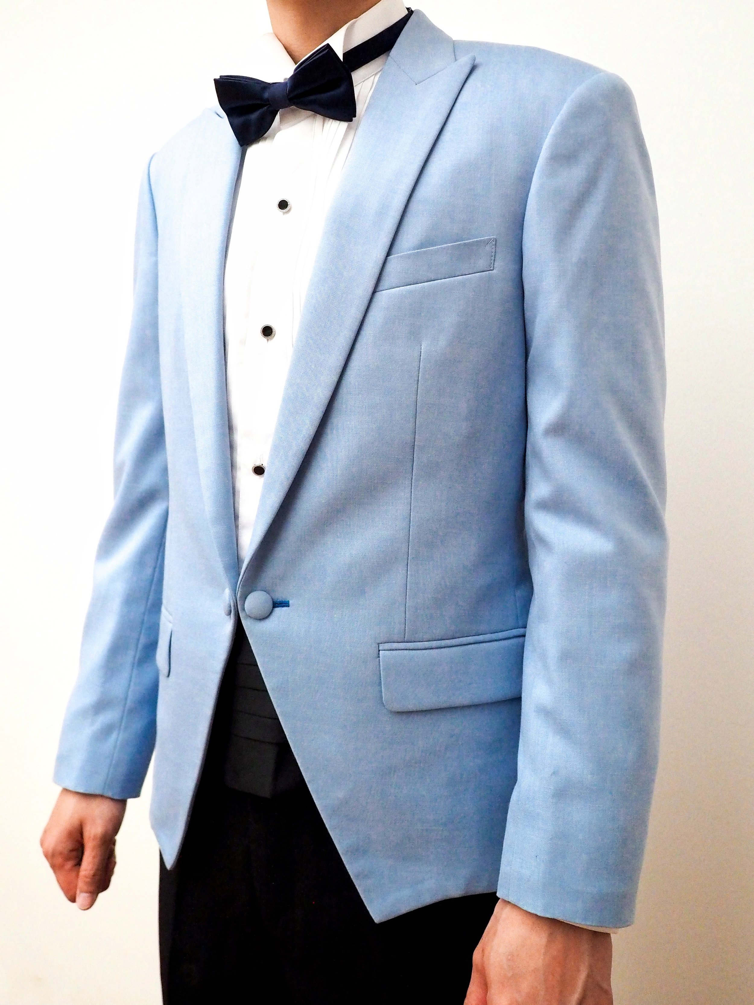 Light blue wedding suit by CCM Wedding