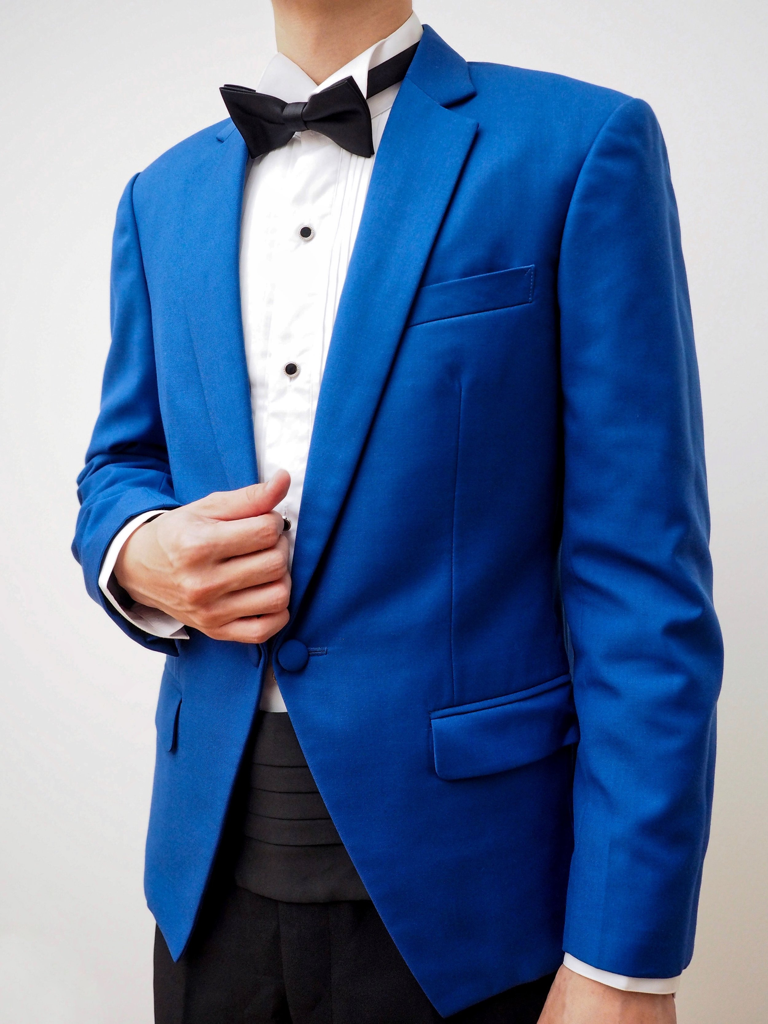 Santorini blue suit by CCM Wedding
