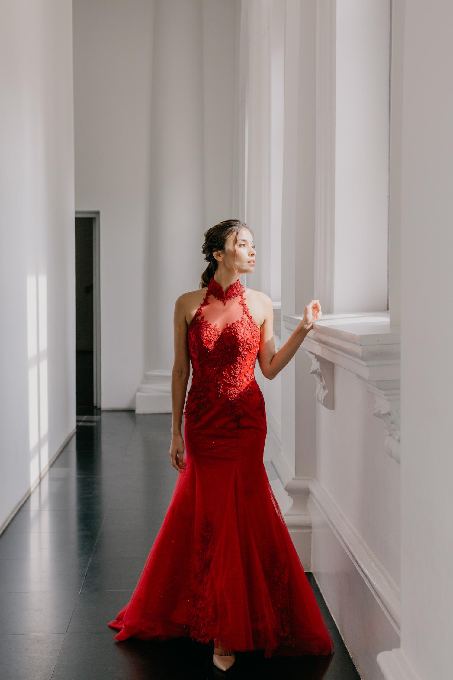 Red cheongsam by CCM Wedding
