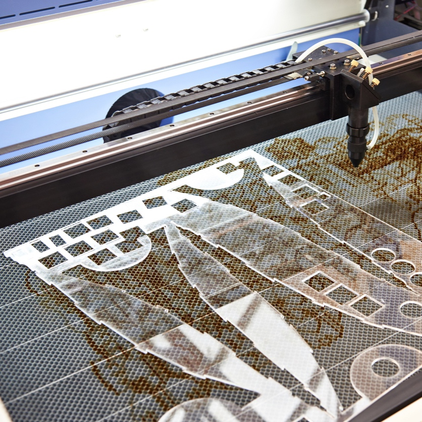 Co2 Laser Cutting Acrylic in London's historic jewellery district Hatton Garden.