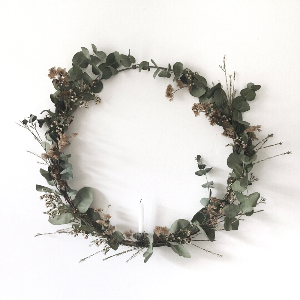christmas wreath / inspire styling