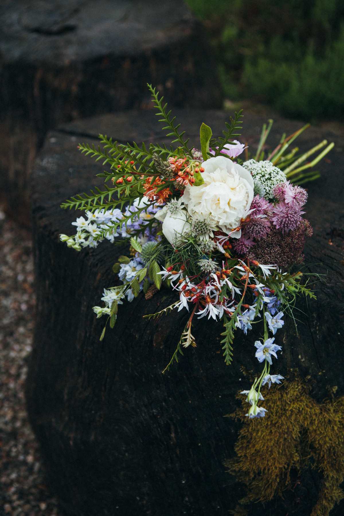 wedding for adventures - wild flower forest bouquet - inspire styling