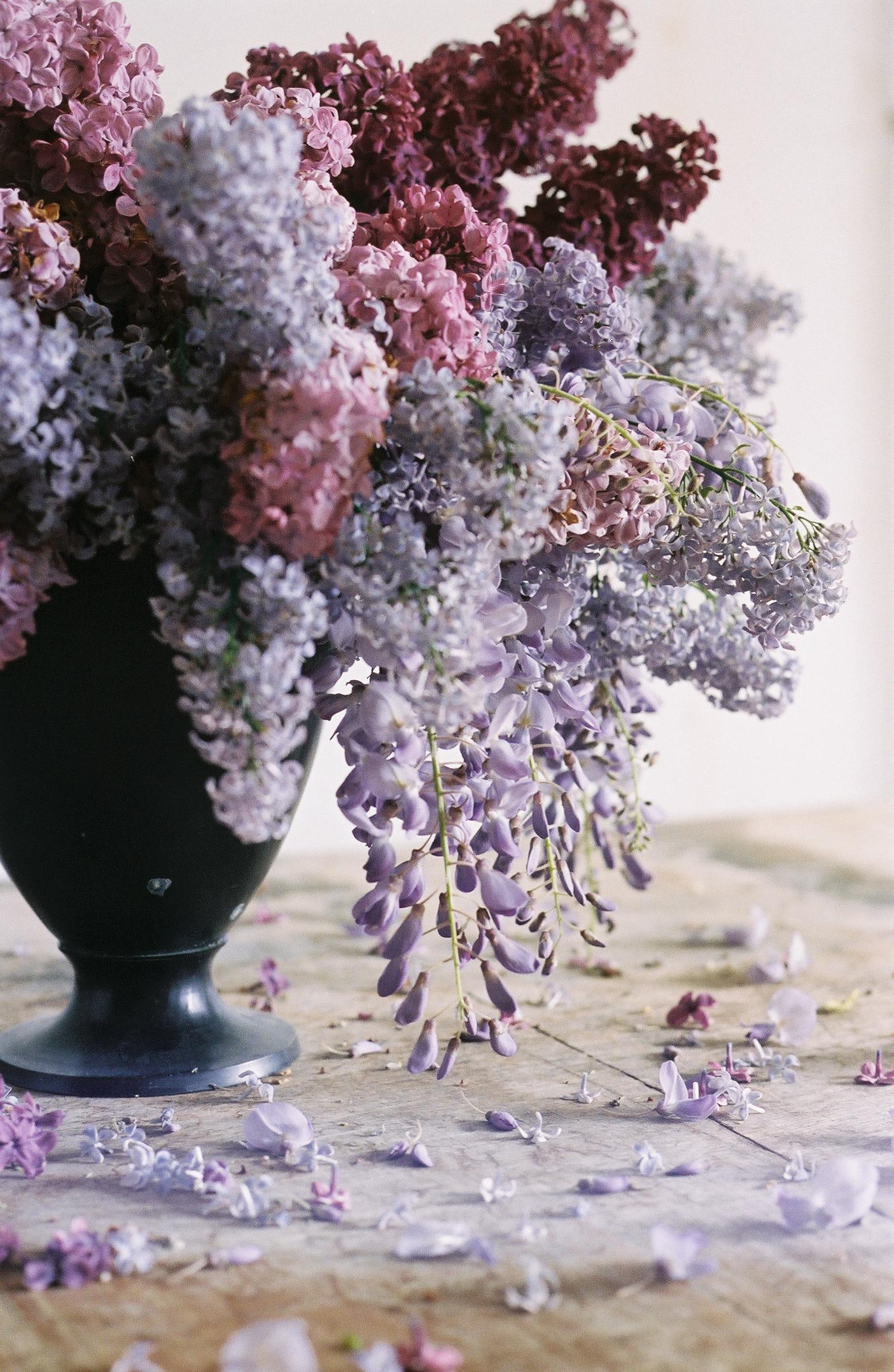 whimsical purple flower arrangement - anne van midden