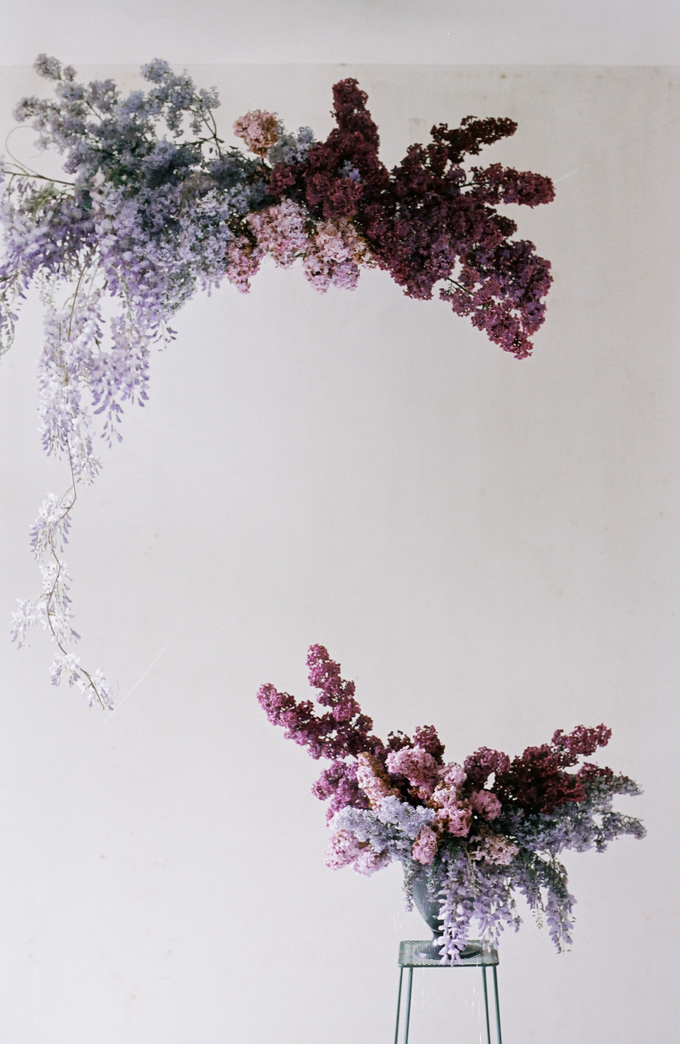 whimsical purple flower cloud - anne van midden